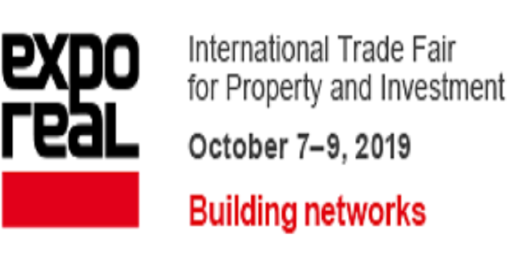 EXPO REAL Innovation ,Property & Investment,  Munich From 07.10-09.10.2019.
