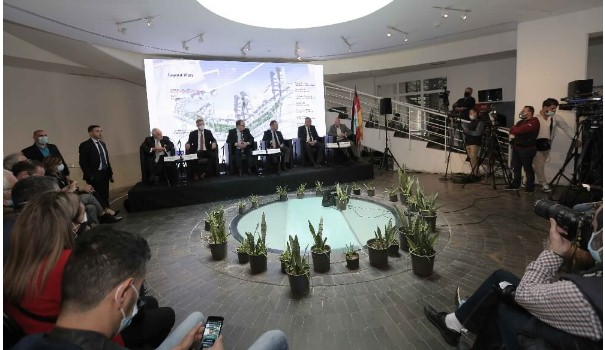 LGBC press conference at  Beit Beirut- Sodeco, the German Delegation  presented their Project for a European revival of the Beirut Port and the Surrounding area.